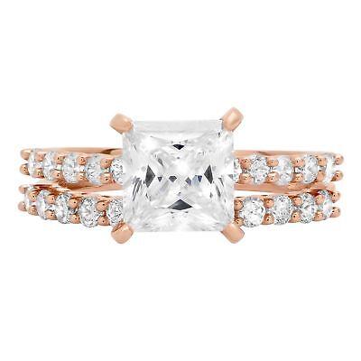 2.56 Princess Cut Promise Bridal Engagement Wedding Ring ...