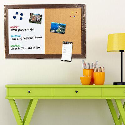 Dry Erase Cork Board Combo Magnetic White Board With Cork Bulletin - 24x36