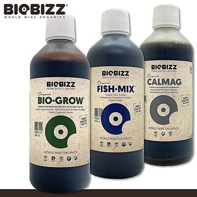 Biobizz 500ML Fish-Mix+Biobizz 500ML Bio-Grow+Biobizz 500ML Calmag Abono