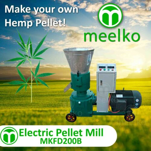 PELLET MILL 7.5kw ELECTRIC ENGINE PELLET (HEMP)