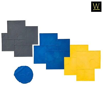 Imperial Ashler Slate Concrete Stamp Set By Walttools - 8 Pc.