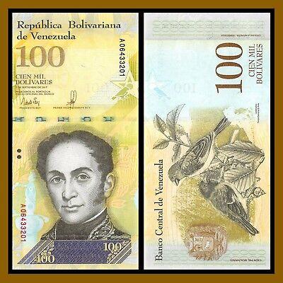 Venezuela 100000 (100,000) Bolivares, 2017 P-New highest denomination UNC
