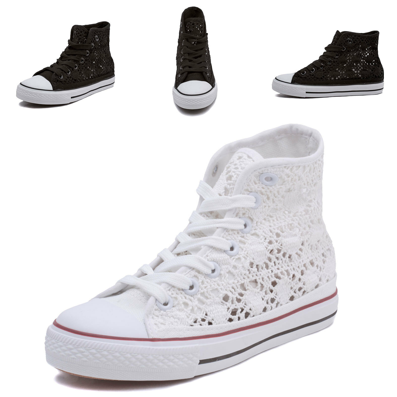 size 40 f741d 55ded Scarpe donna Sneakers Alta Casual da Ginnastica Pizzo para ...