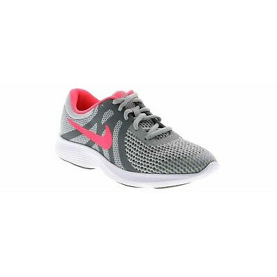 Nike REVOLUTION 4 Youth 943306 003 Grey Pink Athletic Training Shoes](Pink Girls Shoes)