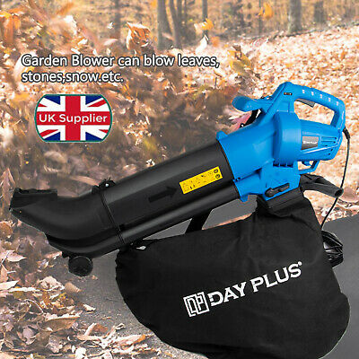 Leaf Blower Garden Vacuum Shredder Vac Leaves Grass BIG 35L Bag 10M 3500W 3 In 1