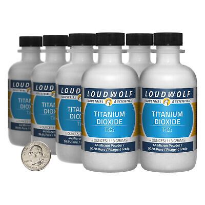 Titanium Dioxide 2 Lbs 8 Bottles 99.9 Reagent Grade 44 Micron Powder