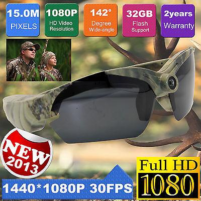 15MP Video glasses HD 1080P  Sports DV Action Camcorder Spy Sunglasses Camera
