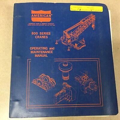 American 800 8450 Truck Crane Operation Maintenance Manual Guide Load Charts