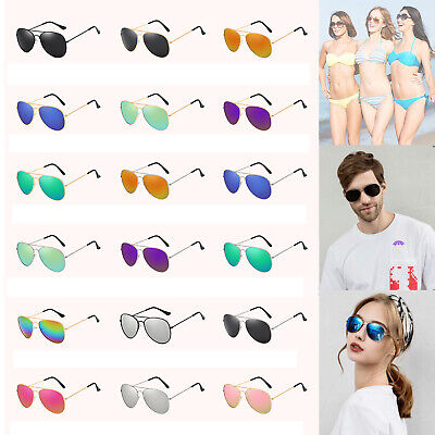 Polarized Aviator Sunglasses Men Ladies Women Unisex Mirror Vintage Retro Pilot