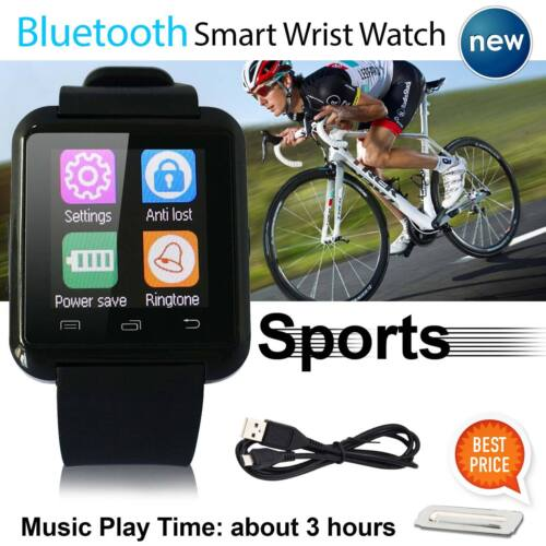 2016 Bluetooth Smart Wrist Watch Phone Mate For Android& iOS iPhone Samsung HTC