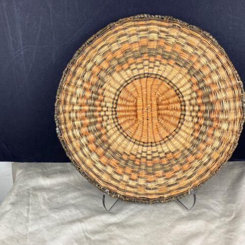 Large Antique Hopi Wicker Plaque Basket