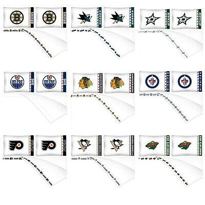 Nhl Bed (NHL Sheet Set - Hockey Sports Bedding League Team Logo Bedroom - Pick Your)