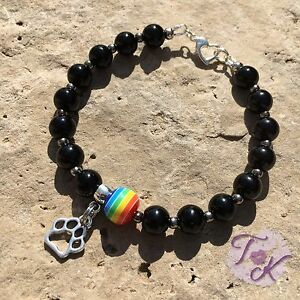 Rainbow Bridge Bracelet, Pet Memorial Jewellery