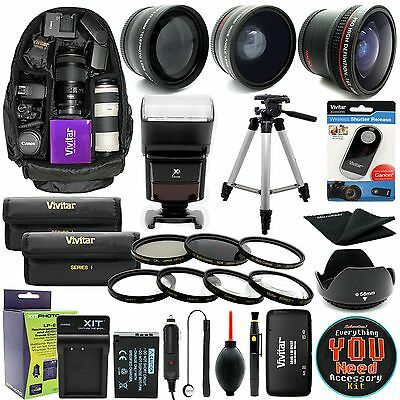 Canon EOS Rebel T6i T6s/ 750D 760D DSLR Camera Everything You Need Accessory Kit