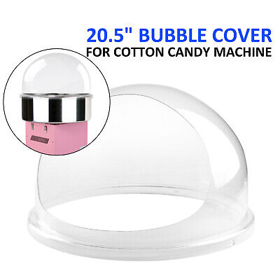 Candy Floss Machine Cover Dome Opening Cotton Candy Maker Clear Bubble 20.5