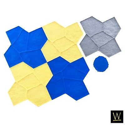 Wisconsin Flagstone Concrete Stamp Set By Walttools - 6 Pc.