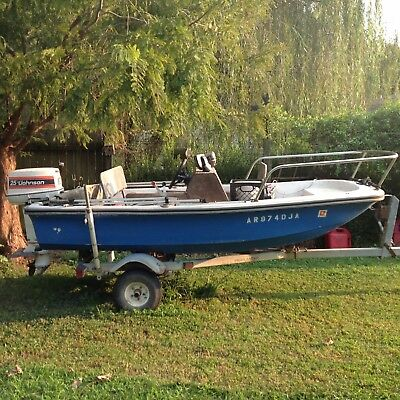 1971 BOSTON WHALER 11 FOOT, 1981 JOHNSON 25 HP MOTOR, TRAILER, NO RESERVE