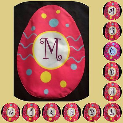 Holiday Easter Egg Small Garden Flag Pink Gift Spring Monogrammed Personalized