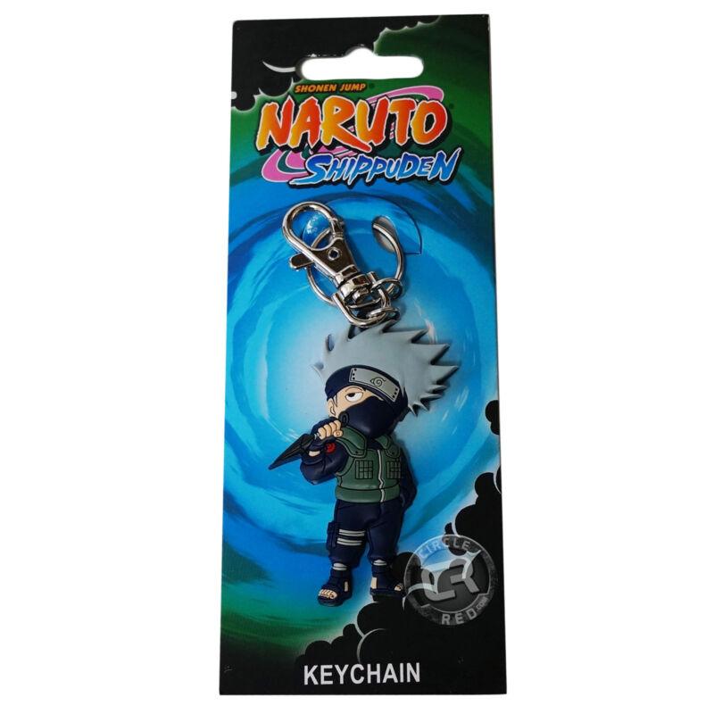 Naruto Shippuden Chibi SD Kakashi with Kunai PVC Key Chain New Official Licensed