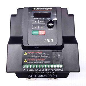 L510-101-H1-U 1HP Teco Variable Frequency Drive, 1 Ph Input / 3 Ph Out, 115V.