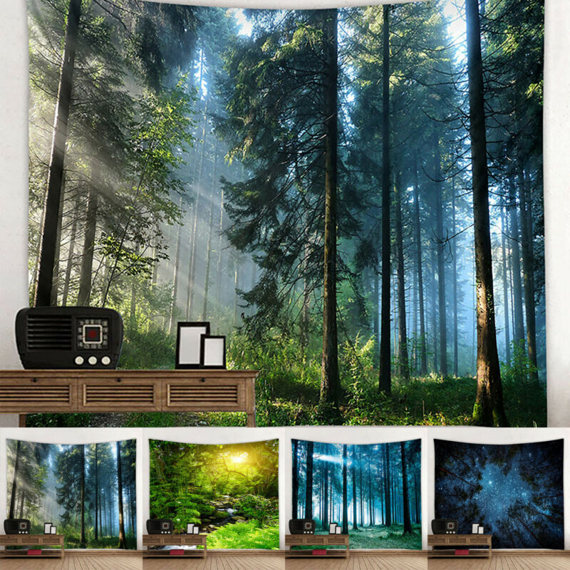 Wald Landschaft Wandbehang Home Decor Tapisserie Kunstplakat Kostenloser Versand