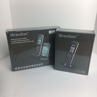 iCreation I-700 Bluetooth Cordless Landline mobile Extra Handset iPhone 4S Only Bluetooth Iphone Mobile Handset