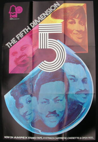 THE FIFTH DIMENSION s/t US ORG 1970 Promo POSTER Soul MINTY!