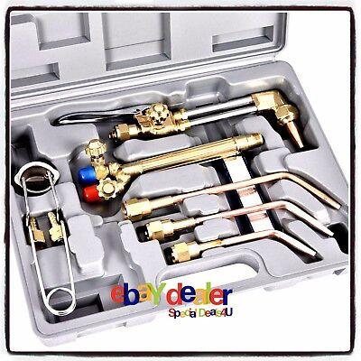 Gas Oxygen Acetylene Torch Kit 10pcs Welding Cutting Set Victor Type Welder