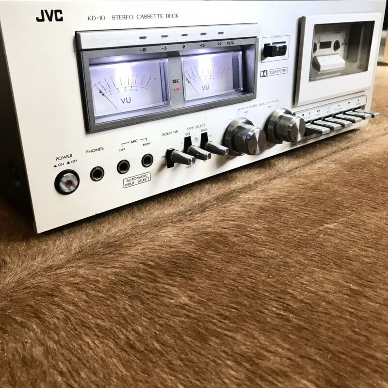 Vintage 1978 JVC KD-10 Stereo Cassette Deck.  LED Upgrade ~ Tested ~