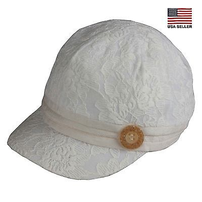 Floral Lace Soft Baseball Cadet Army Cap Hat Packable Military Women's Men's
