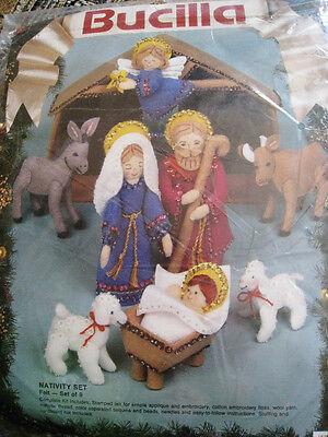 Bucilla FELT Applique Christmas Kit,NATIVITY SET,Manger,Family,Baby Jesus,82958 Jesus Felt Set