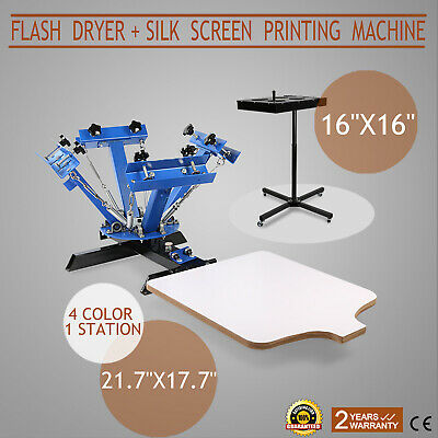 4 Color 1 Station Silk Screen Printing Kit Machine Flash Dryer 16 X 16 Drying