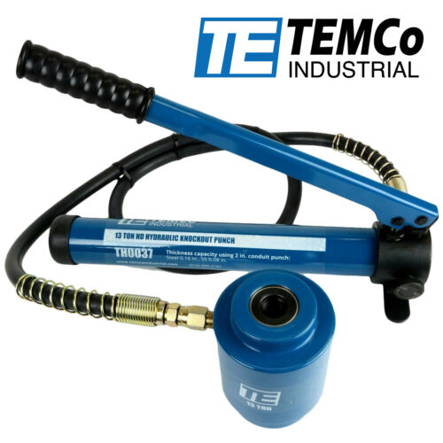 "TEMCo Hydraulic Knockout Punch Driver Electrical Conduit Hole KO Tool 3/4""-16"