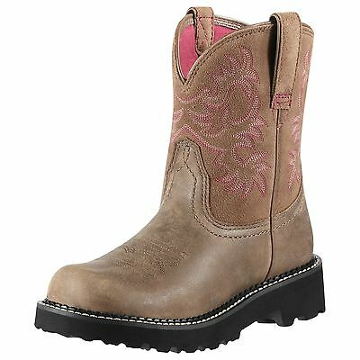 - Ariat Womens Fatbaby Brown Bomber Pink Liner 10000822 (New Style)