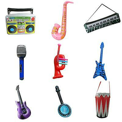 Inflatable Music Instruments Guitar Saxophone Microphone Blo