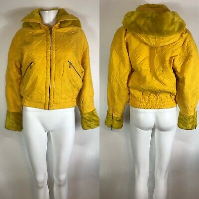 Rare Vtg Gianni Versace Sport 90s Yellow Stitch Design Jacket M