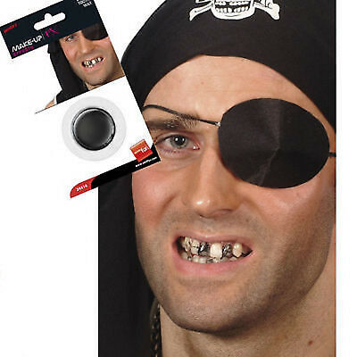 Halloween Smiffys Black Tooth wax Pirates zombies make up fx dressing up fancy](Black Tooth Wax Halloween)