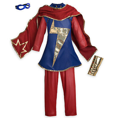 NWT Disney Store 7 8 9 10 11 12 MS Marvel Costume Halloween Dress Up NEW - 11-12 Halloween Costumes