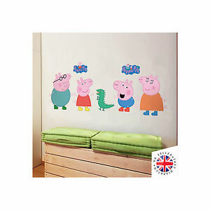 PEPPA PIG Wall Art Sticker Vinyl Bedroom Cartoon Kids Girls Boys Children