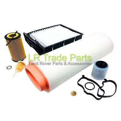 LAND ROVER FREELANDER TD4 FULL SERVICE FILTER KIT - AIR, OIL, BREATHER & POLLEN