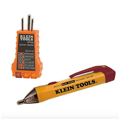 Klein Electrical Test Meter Voltage Tester Non Contact Pen Cable Wire Outlet Kit