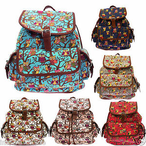 NEW-LADIES-RETRO-GIRLS-BACKPACK-RUCKSACK-SCHOOL-GYM-COLLEGE-TRAVEL-SHOULDER-BAG