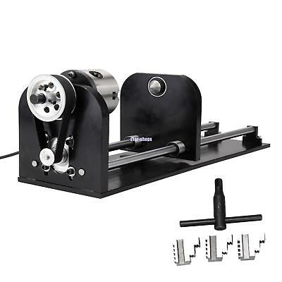 Rotary Axis For 60w-100w Co2 Laser Engraving Cutting Machine Engraver Usb