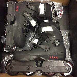 Used USD Aeon 2018 80mm Black Aggressive Inline Skates Size 6/7