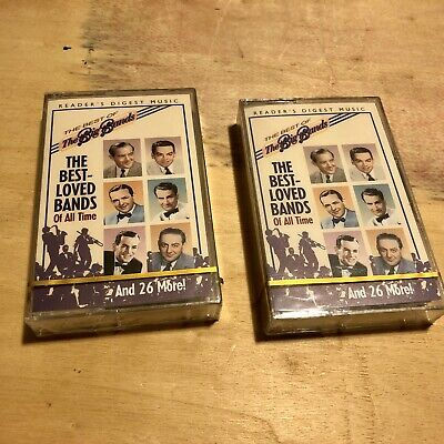 The Best- Loved Bands Of All Time- BIG BANDS, BN Sealed 2 Cassette Tape