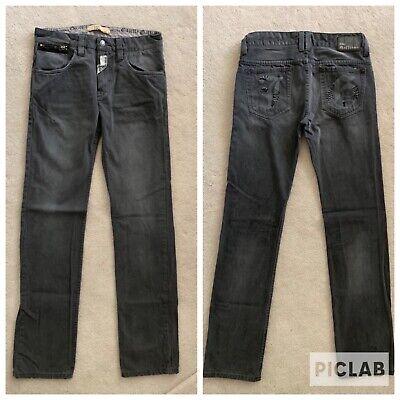 JOHN GALLIANO Juniors Big Boys Kids Slim Straight Gray Cotton Jeans Pants Sz 14