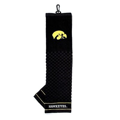 NCAA Iowa Hawkeyes Golf Towel Embroidered Tri-Fold 16