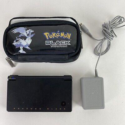 Tested! Nintendo DSi Pokemon Black Zekrom & Reshiram Edition With Case & Charger