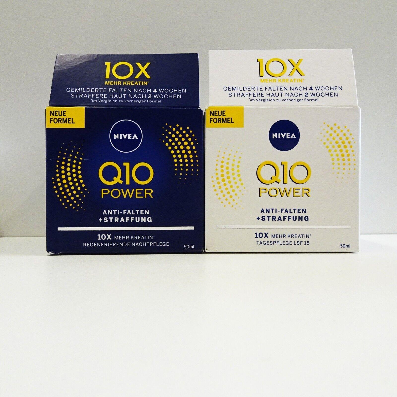 NIVEA Q10 Power Anti Falten + Straffung Nacht- und Tagespflege 2x50 ml