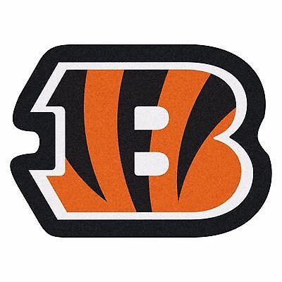 Cincinnati Bengals Mascot Decorative Logo Cut Area Rug Floor Mat ()